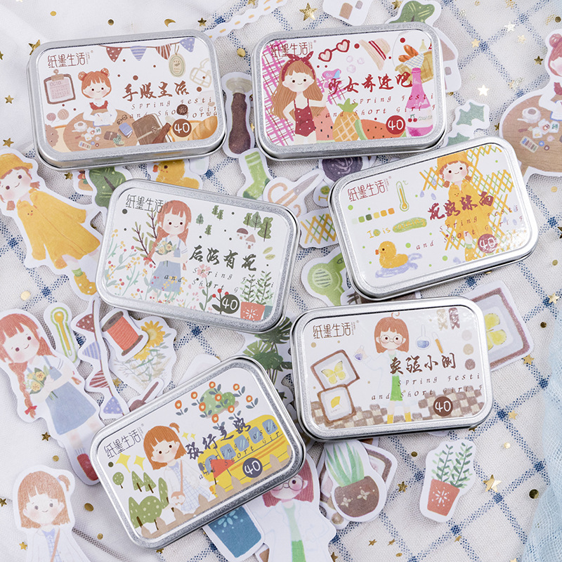 20set /1lot Kawaii Stationery Stickers Girl Series Diary Decorative Mobile Stickers Scrapbooking DIY Craft Stickers