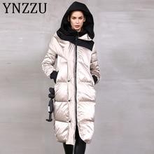 YNZZU High Quality 2019 Winter Women's Down Jacket Glossy Lo