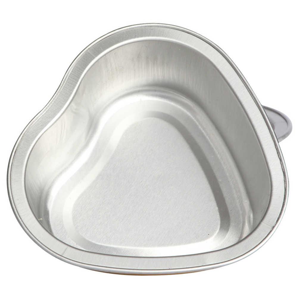 Hair Removal Wax Kacang 30G Emas Berbentuk Hati Aluminium Foil Mencair Lilin Mangkuk Kecil