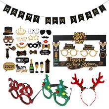 Новинка года, Фотофон с Новым годом, очки, реквизит для фотосессии, год, реквизит для фотосессии, рождественские украшения, вечерние принадлежности Navidad