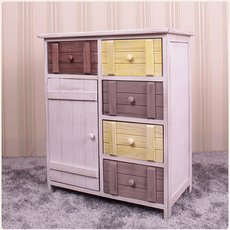 American-Style Village Cabinet Solid Wood Loft Restaurant Clothing Store Cafe Decoration Storage Cabinet Furniture Wholesale