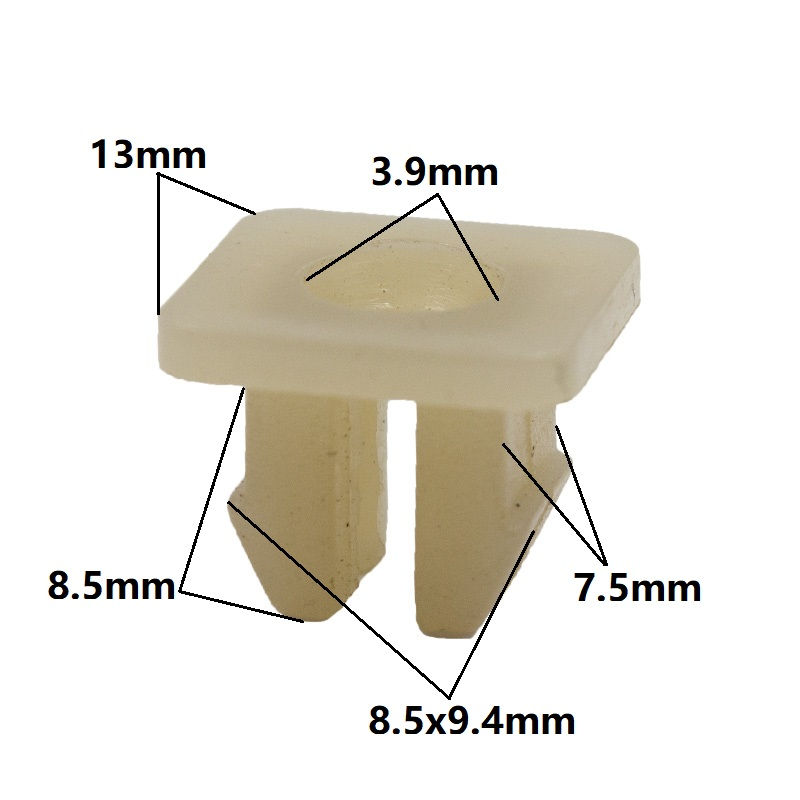 KALILII Natural 9mm nut grommet clamp nylon fixeding clips for car lights buckle retainers snaps