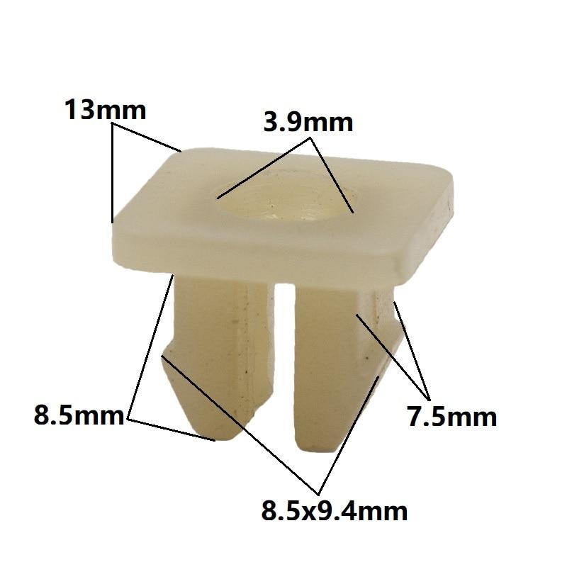 KALILII натуральные 9 мм гайки втулки зажим нейлоновые фиксирующие зажимы для автомобильных фар пряжки защелки