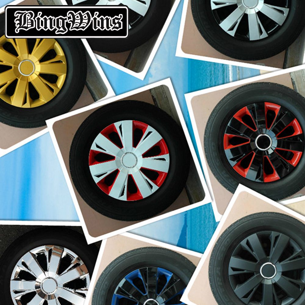 BingWins <font><b>Car</b></font> styling <font><b>14</b></font> 15 16 inch For Jetta / Fit / Cruze / Excelle Suitable for iron and steel ring installation <font><b>wheel</b></font> <font><b>cover</b></font> image