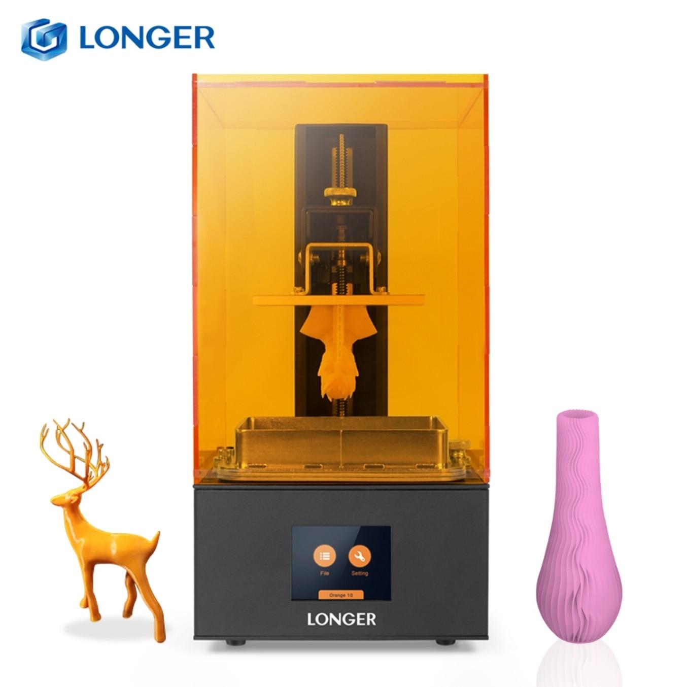 Доступный 3D-принтер LONGER Orange 10 LCD, SLA 3D-принтер, металлический корпус, матрица, СВЕТОДИОДНЫЙ дизайн, быстрое охлаждение, легкий в использовании...