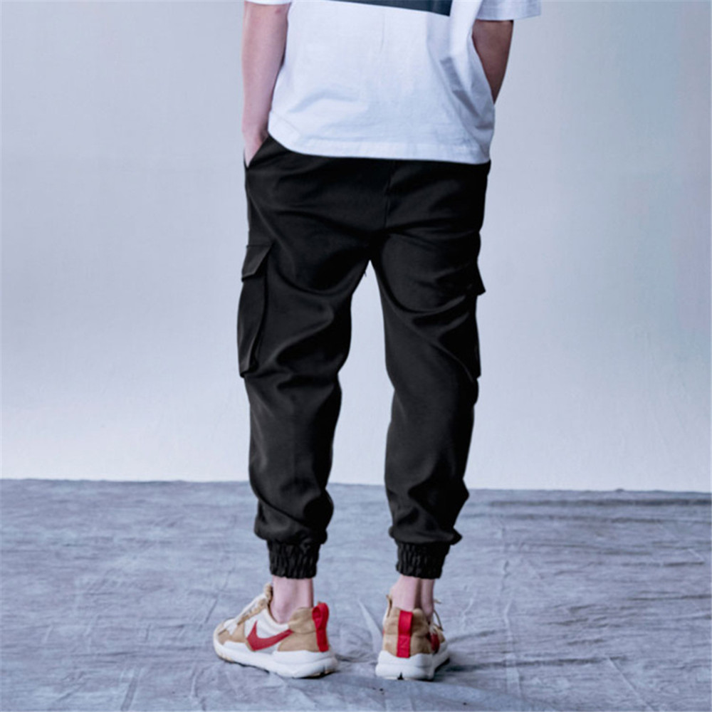 New Style Men's Cargo Pants Running Training Loose Long Pants Male Casual Jogger Sweatpants High Quality Solid Brand Trousers 6