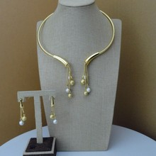 Yuminglai Designer Jewelry Dubai Costume Jewelry Sets Necklace and Earrings FHK7229(China)