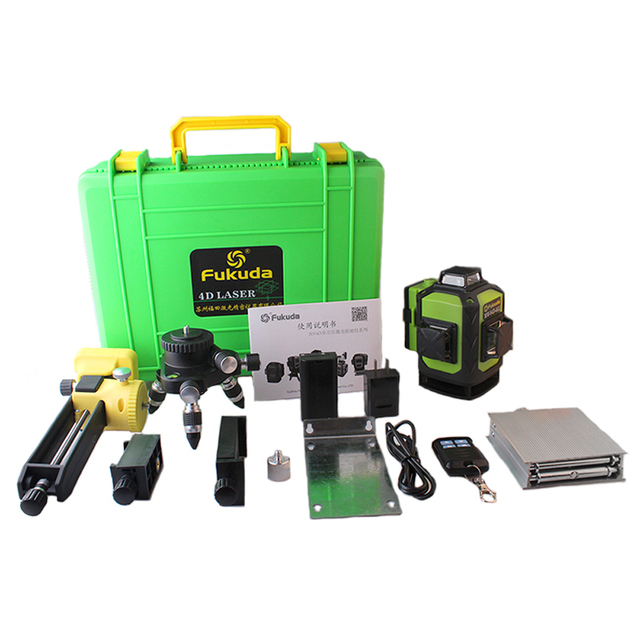Fukuda Laser Level Green 16 Lines 4D Level Self Leveling 360 Horizontal And Vertical Cross Super Powerful Green Laser Level
