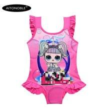 Aitonoble/Новинка года; детский купальник для девочек; костюм принцессы для костюмированной вечеринки; летняя кукла в купальнике; платье с сеткой