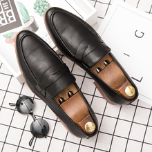 2019 New Mens British Casual Leather Shoes Low Loafers Moccasins Men Flats Pointed Toe Breathable %28012