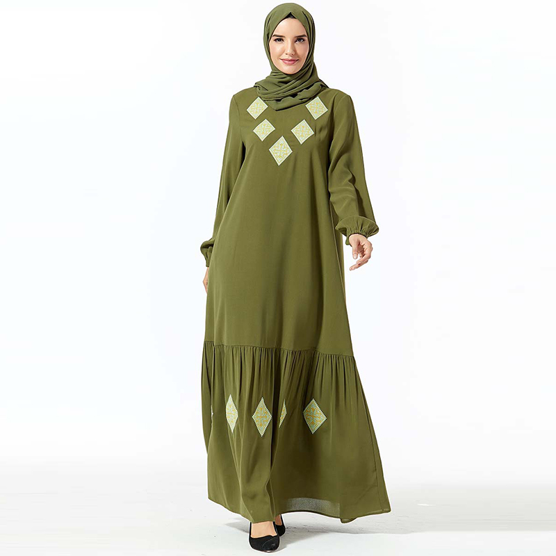 Arabic Abaya Kaftan Dubai Hijab Muslim Long Dress Turkey Qatar Islamic Women Pakistan Dresses Caftan Marocain Robe Femme Vestido