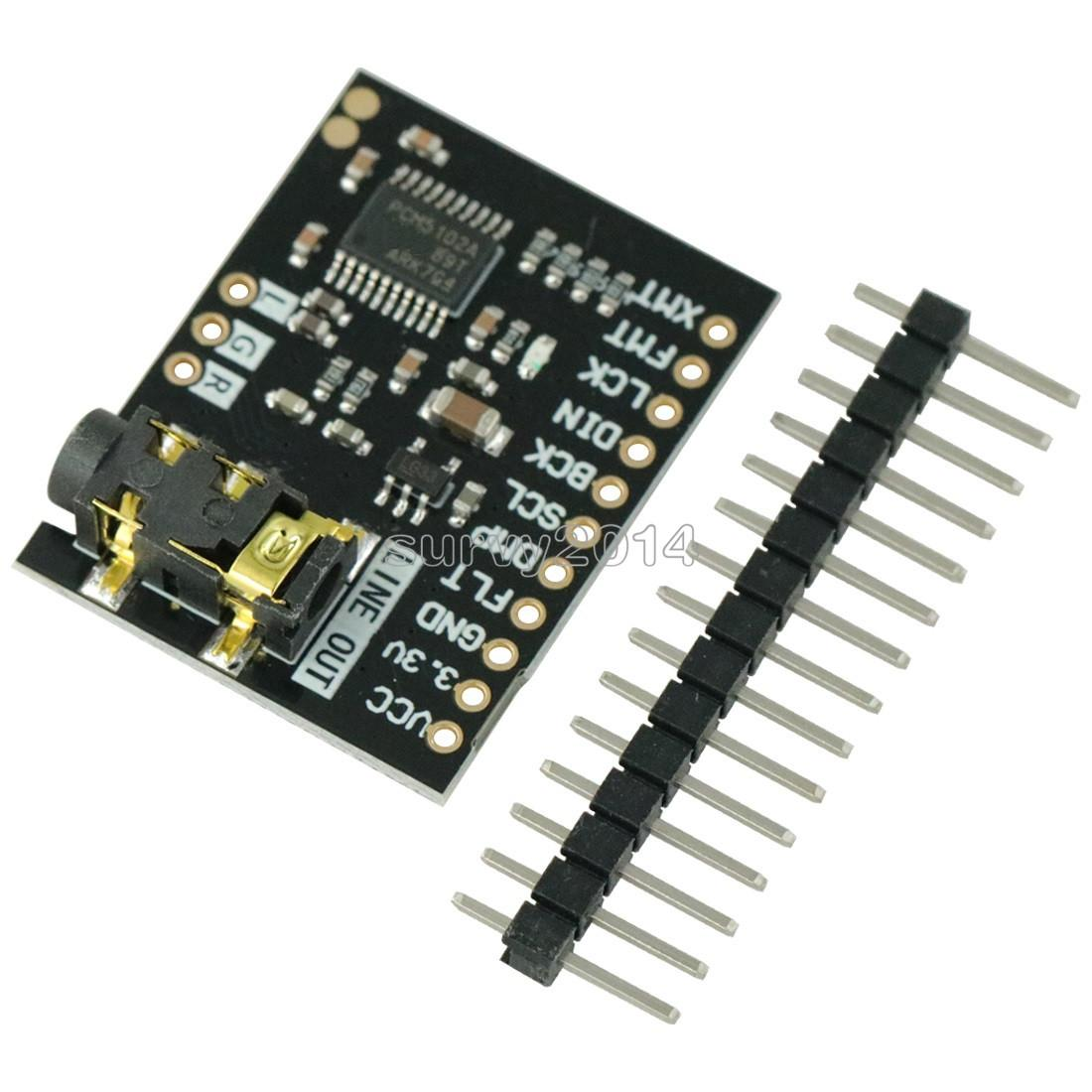 I2S PCM5102A DAC Decoder 32bit Player Module ES9023 PCM1794 For Raspberry Pi