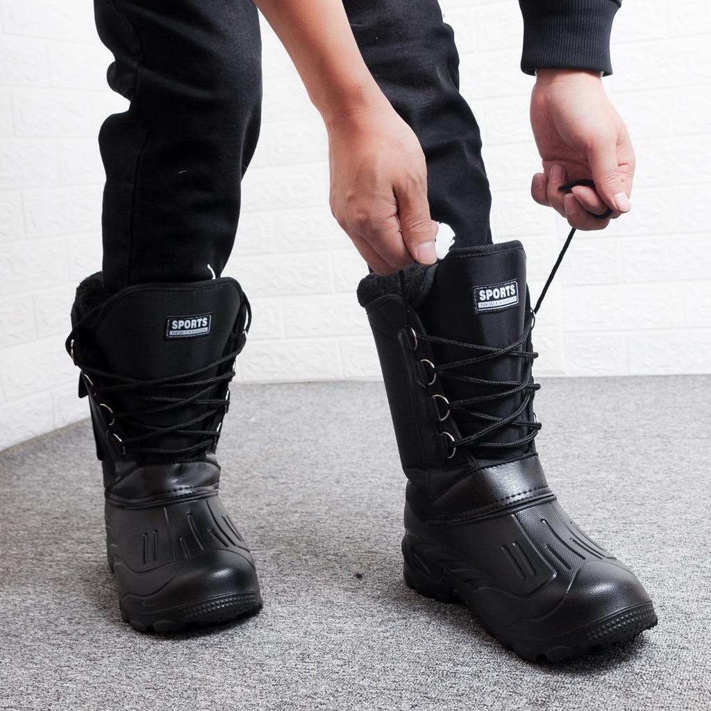 New men snow boots waterproof men's