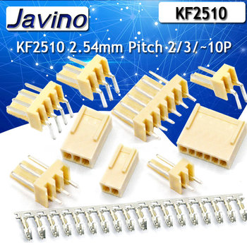10Set KF2510 Connector Kits 2.54mm Pitch 2/3/4/5/6/7/8/9/10/ Straigh Pin Header+Housing+Crimp Curved needle image