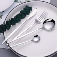 Edelstahl Besteck Besteck Silber Gabeln Messer Löffel Weihnachten Geschirr Geschirr Besteck Set Kaffee Teelöffel