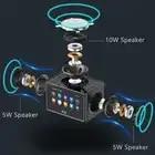 Stereo Bluetooth Speaker 20W LED Screen FM Radio Alarm Clock Home Desktop Wireless HiFi Mic Loudspeaker Bass Subwoofer Soundbox - 2
