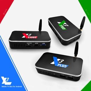 Image 3 - Amlogic S905X3 TV BOX Android 9.0 X3 Plus 4 go de RAM 64 go ROM X3 PRO décodeur 2.4G/5G WiFi 1000M 4K X3 Cube lecteur multimédia