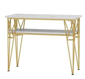 Nordic nail table and chair set combination nail table double-layer single-person manicure table modern simplicity