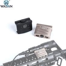 WADSN Airsoft 전술 RM45 오프셋 레일 마운트 Surefir M300 M300B M600C M600B 라이플 스카우트 손전등 사냥 액세서리