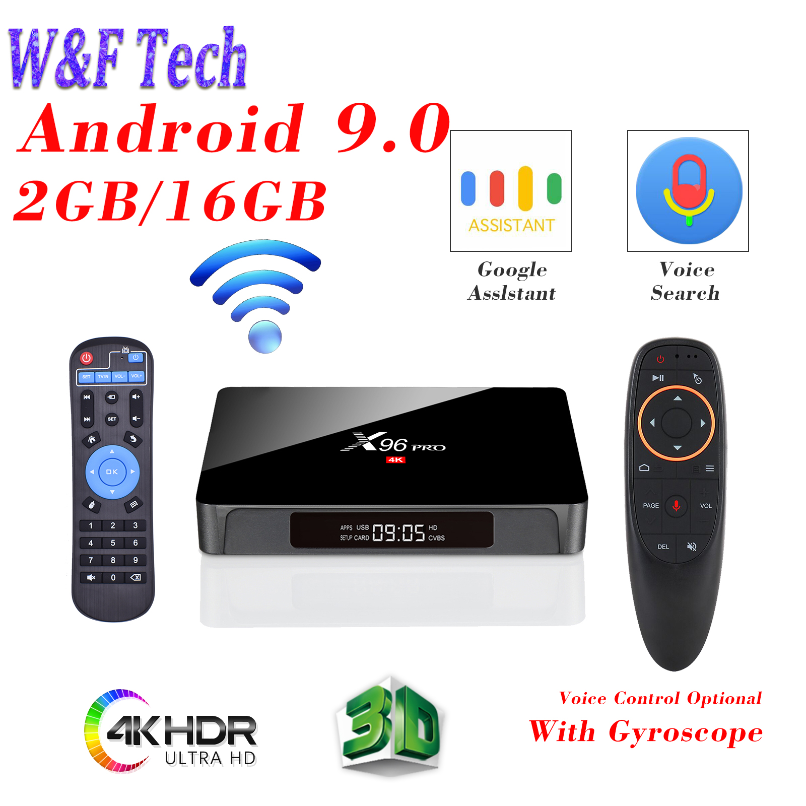 X96 PRO TV Box Android 9.0 Amlgoic S905W 2GB 16GB 4K IPTV Smart TV BOX YouTube Netflix Player Updated X96 MINI TV Set Top Box