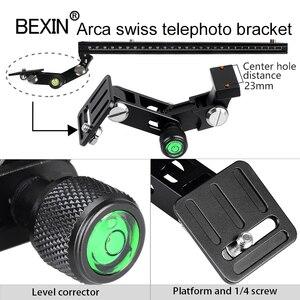 Image 4 - Long RRS ARCA SWISS camera tripod Quick Release Plate telephoto Lens Bracket support holder for Long Nodal Slide Rail Adapter