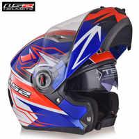 LS2 FF370 Motorrad Filp up Modulare Helm Full Face Racing Casco Moto Capacetes de Motociclista Dual Visiere Motor Helm