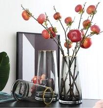 Стеклянная ваза ПРОСТАЯ ПРОЗРАЧНАЯ многоцветная водяная культура