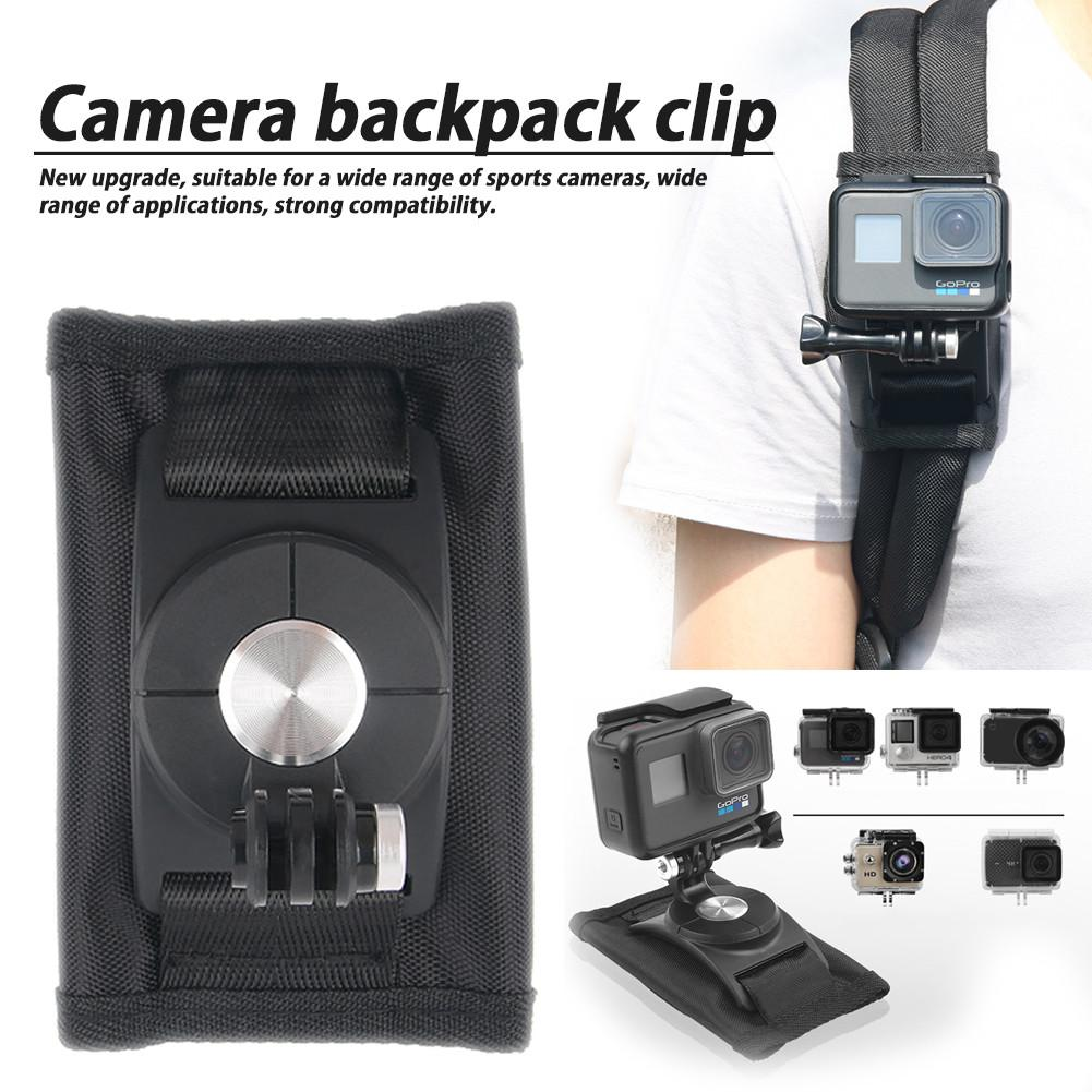 Clip Wrist Backpack Clip Belt Buckle for Gopro Hero6 5 4 Sports Camera Rotating