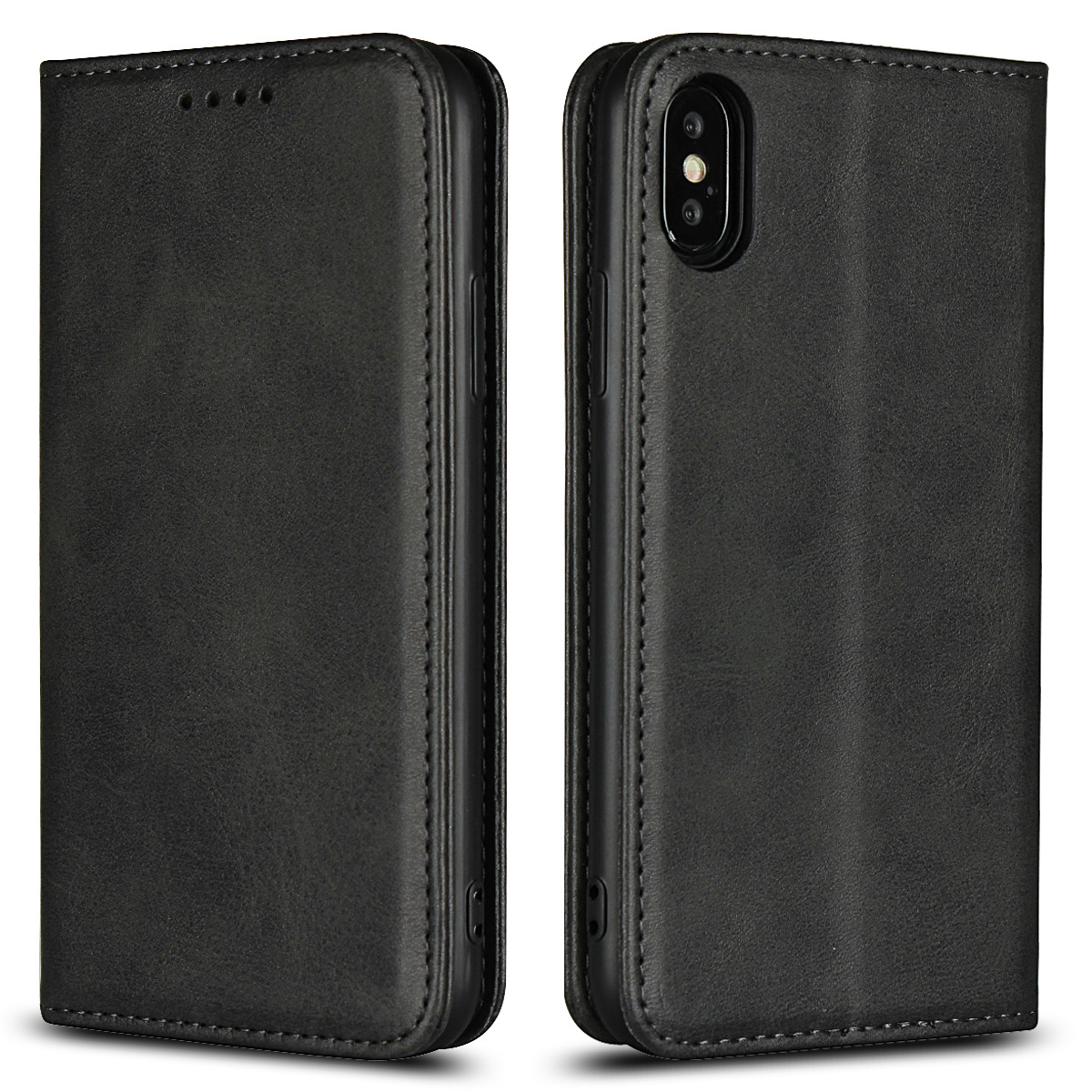 Magnet Calf Leather Phone Case For Iphone X XS Max XR 11 Pro Max Wallet Bag Card Slot Stand Flip Cover For Iphone 6 6S 7 8 Plus