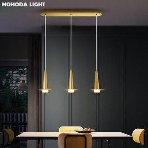 Люстра Momoda из латуни, Волшебная Шляпа, Современная промышленная лампа для столовой, спальни, гостиной, кухни