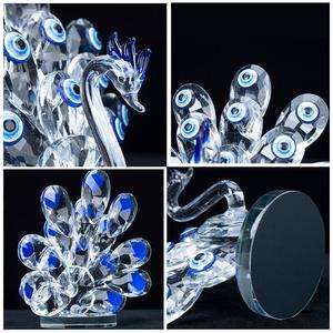 Image 5 - H & D קריסטל עם כחול עין רעה זכוכית אמנות קרפט קריסטל מיניאטורות צלמית בית חתונת דקור קישוט חג המולד מתנה עבור גברת
