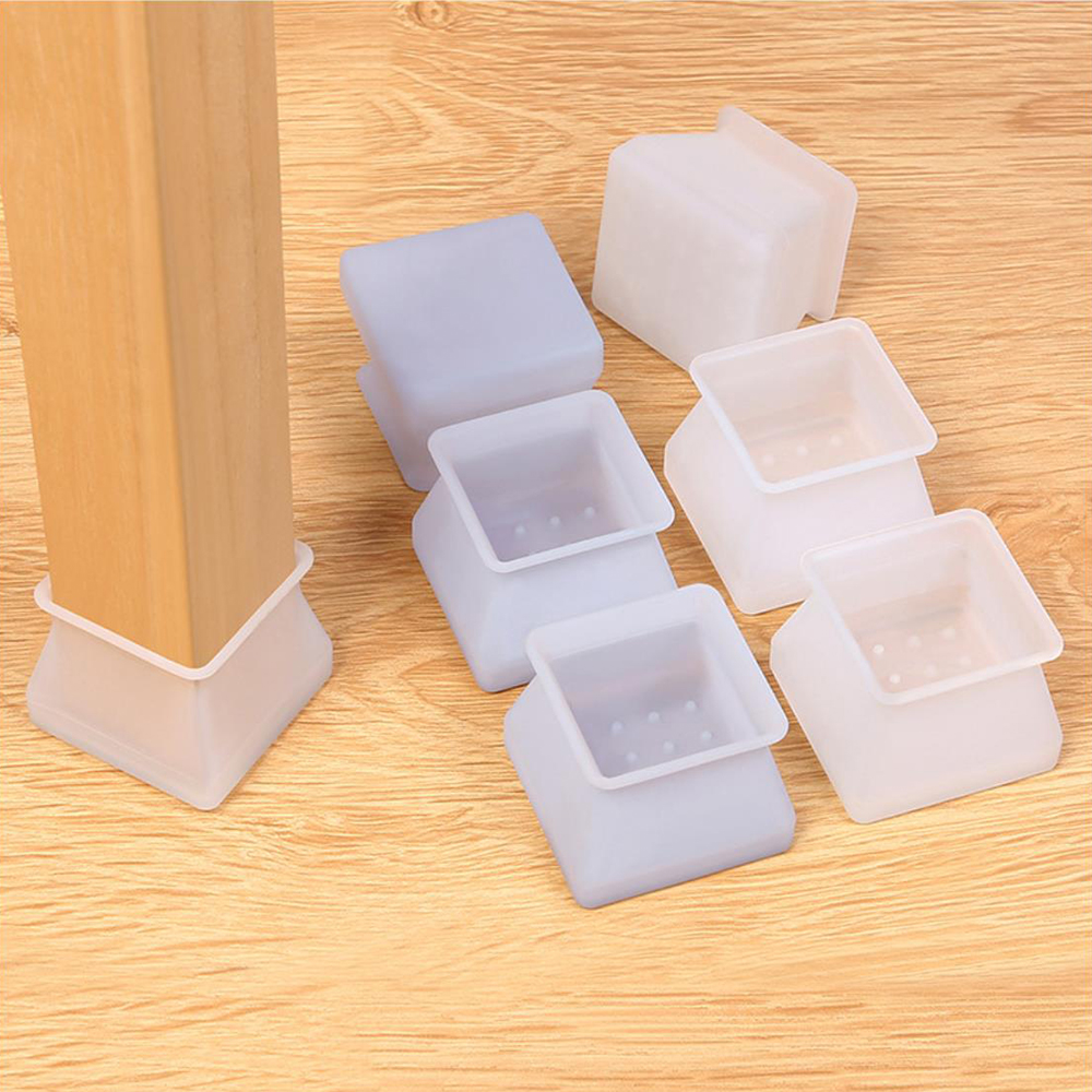 4//8//16x Silicone Table Cover Chair Leg Caps Feet Pads Furniture Floor Protectors