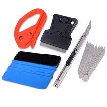 Vinyl Werkzeug Set Rakel Schaber Carbon Fiber Folien Vinyl Auto Film Wrap Werkzeug Kit Cutter Messer Auto Fenster Tönung Zubehör
