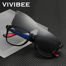 VIVIBEE 2020 Trending Magnetic Clip on Sunglasses Men Polarized Lens Square Anti