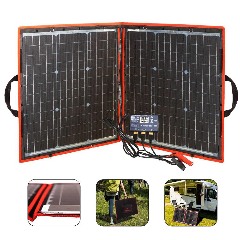 Dokio Flexible plegable del Panel Solar de alta eficiencia de viajes y teléfono y barco portátil 12V 80w 100w 150w 200w 300w Kit de Panel Solar - 2