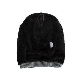 Image 4 - TOHUIYAN szydełkowa czapka kapelusz dla mężczyzn Slouchy jesień czapki zimowe moda czaszka czapka z dzianiny Hip Hop grube ciepłe czapki Baggy kobiety kapelusz