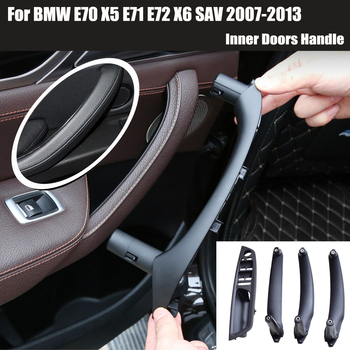 Interior Door Armrest Inner Handle Panel Pull Trim Cover For BMW X5 E70 30d 30si 35d 48i X6 E71 30dx 35ix 40ix 06-14 51416969406 image