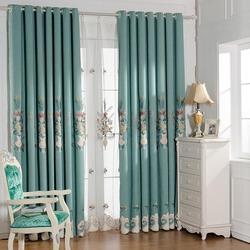 Nowa chińska atmosfera sto haft śnieg Tiffany zasłony do salonu jadalnia sypialnia.
