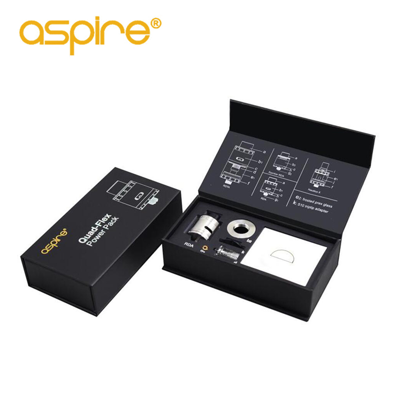 Electronic Cigarette RDA 2ml Vape Tank Aspire Quad-Flex Power Pack Kit 3-in-1 RDA/Squonk RDA Atomizer For E Cigarette Box Mod