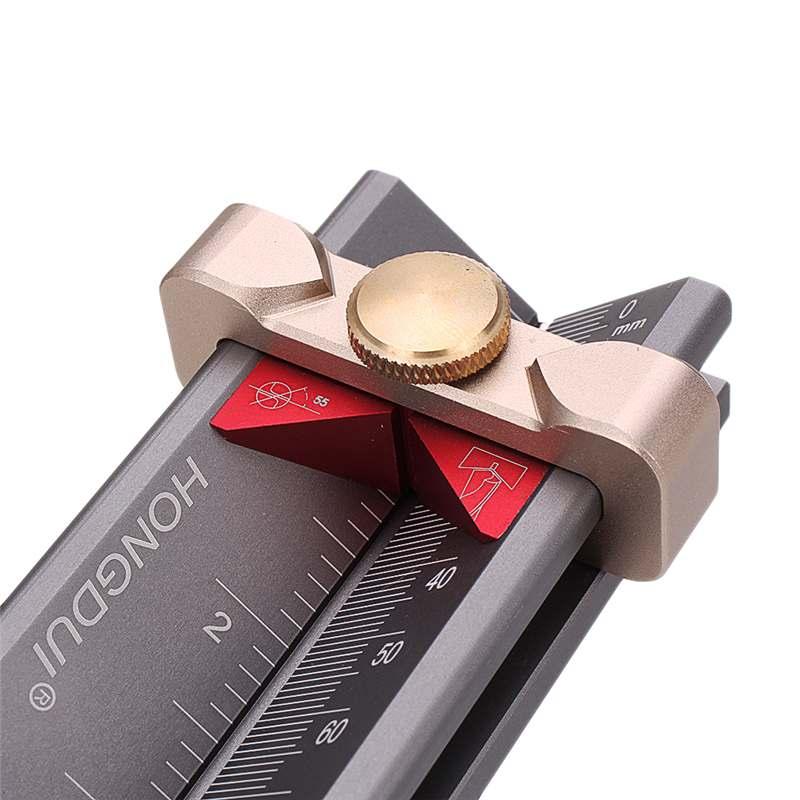 broca móvel ângulo profundidade régua medidor medição