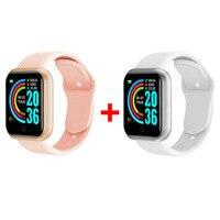 2 Watch Pink White