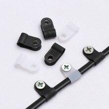 Пластиковые P-зажимы 100 шт., черные крепежи для шланга, прочный R-образный нейлоновый кабельный зажим, монтажная фиксация, оборудование, элект...