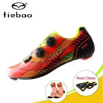 TIEBAO zapatillas de ciclismo carbono Professional Road Carbon Cycling Shoes Road Bike Bicycle Shoes Women Men outdoor sneakers