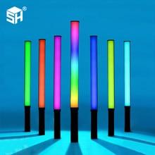 RGB Colorful LED Stick Fill Light Handheld 10W 5600K LED Flash Light Speedlight Photographic Lighting Lamp For Tiktok Youtube