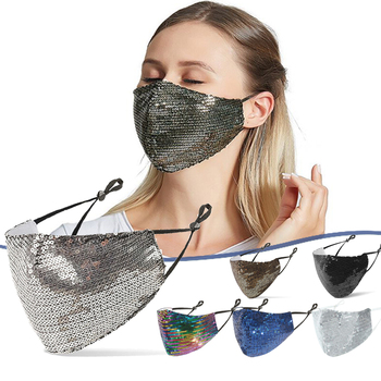 2/4/10pcs Luxury Bling Rhinestone Pearl Face Mask Decoration Jewelry Women Party Face Crystal Anti-oil smog dustproof Mouth Mask 1