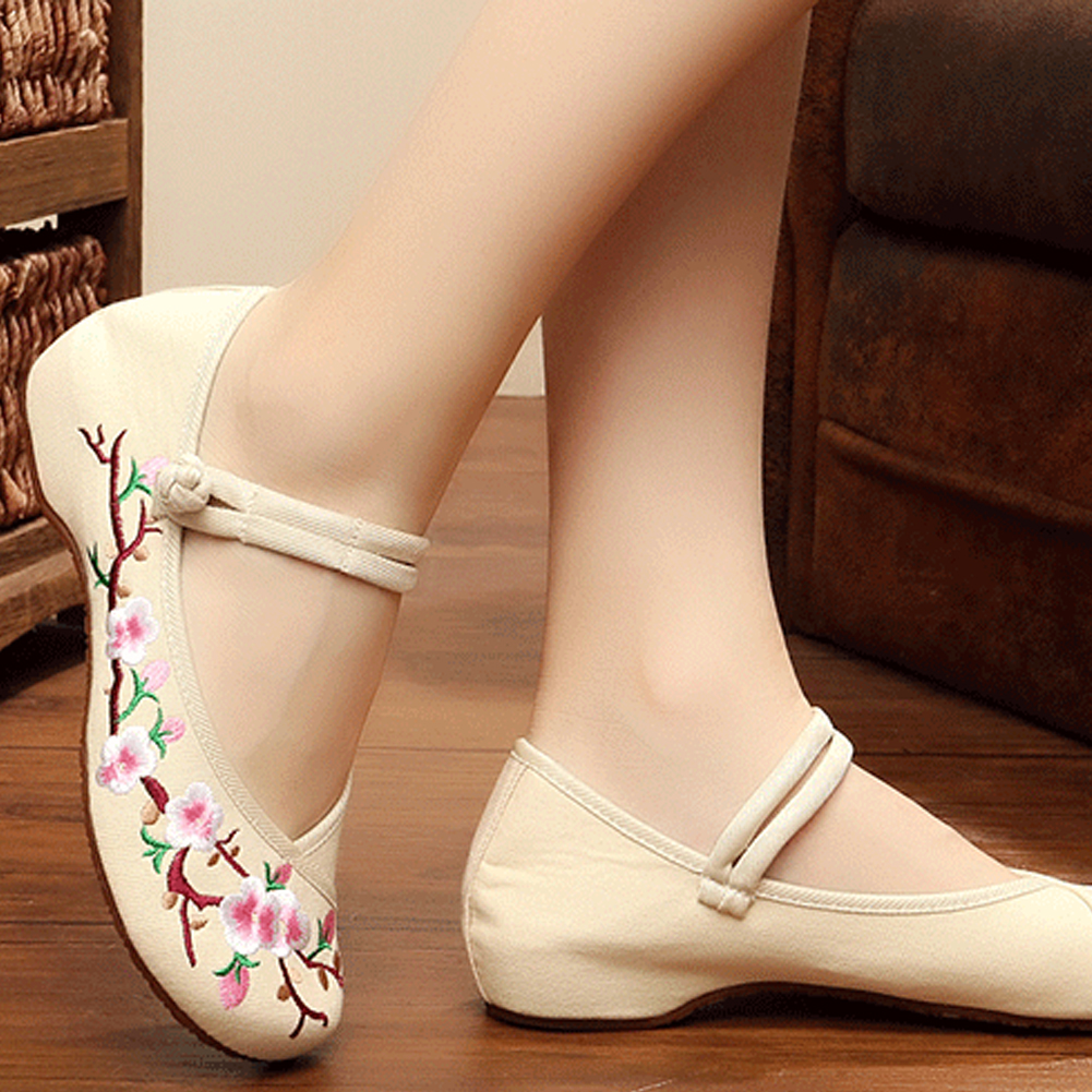 ╬Ultimate SaleFlats Chinese-Shoes Embroidery Canvas Traditional Women Flower Old-Peking Casual