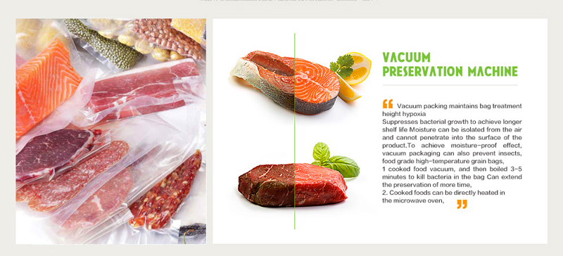 Kitchen Vacuum Sealer Machine Food Saver 110V 220V Electric Home Vacuum Food Sealer China Including 10pcs Storage Bags
