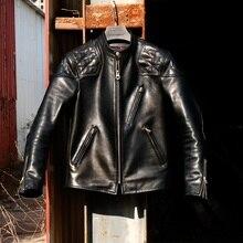 YR!Free shipping.Luxury Italy tanned batik 1.6mm horsehide jacket,fashion motor