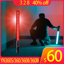 лучшая цена Yongnuo YN360 YN360II YN360III YN360S LED Video Light Handheld Ice Stick 3200k to 5500k RGB colorful controlled by Phone App