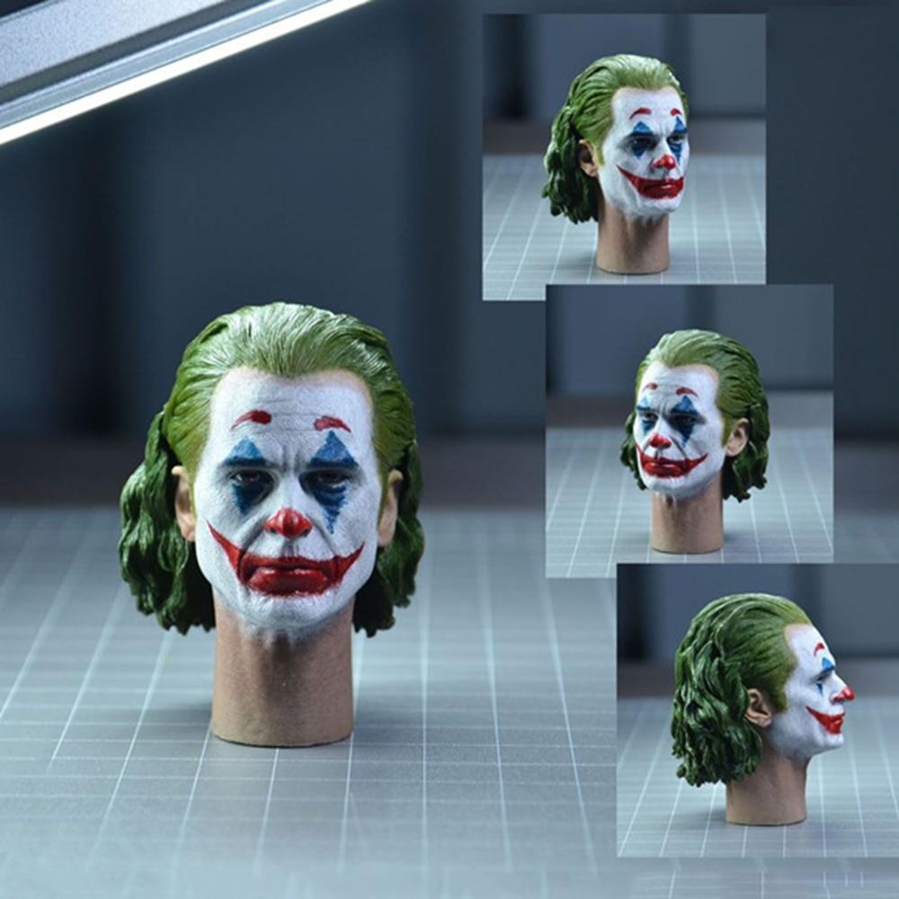 In Stock 1/6 TOP-004 Joker Joaquin Phoenix Head Sculpt  Makeup Ver. PVC Head Model Fit 12